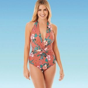 Dreamsuit by Miracle Brand Floral Twist  Swimsuit